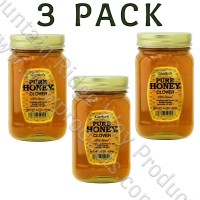 Gunter's Clover Honey - Pint (22 oz. nt. wt.) Jar - 3 Pack