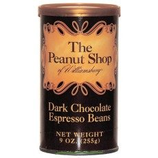 The Peanut Shop Dark Chocolate Espresso Beans - 9 oz