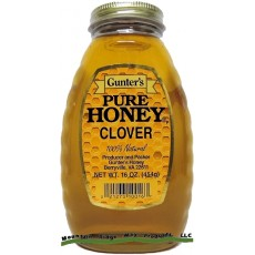 Gunter's Clover Honey - Case of 12 - 1 lb. Jars