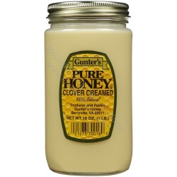 Gunter's Clover Creamed Honey - Case of 12 - 1 lb. Jars