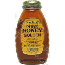 Gunter's Golden Honey - Case of 12 - 1 lb. Jars