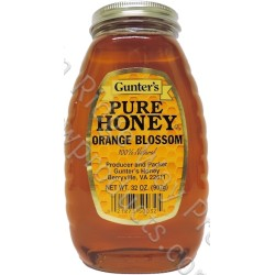 Gunter's Orange Blossom Honey - 2 lb. Jar