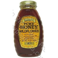Gunter's Wildflower Honey - Case of 12 - 1 lb. Jars