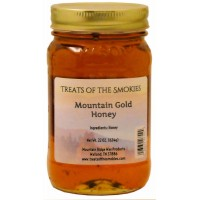 Treats of the Smokies - Mountain Gold Honey - Pint (22 oz. nt. wt.) Jar