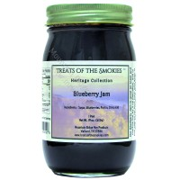 Treats of the Smokies -Treats of the Smokies - Blueberry Jam - Pint (19 oz. nt. wt.) Jar