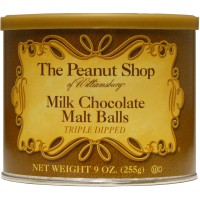 The Peanut Shop of Williamsburg Milk Chocolate Malt Balls - 9 oz. Tin
