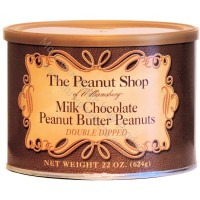The Peanut Shop Milk Chocolate Peanut Butter Covered Peanuts - 22 Oz.