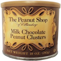 The Peanut Shop of Williamsburg Milk Chocolate Peanut Clusters - 10 oz. Tin