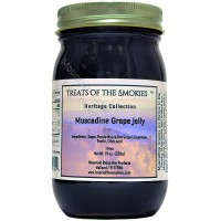 Treats of the Smokies - Muscadine Grape Jelly - Pint (19 oz. nt. wt.) Jar