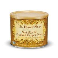 The Peanut Shop Sea Salt & Cracked Pepper Seasoned  Peanuts - 10.5 oz.