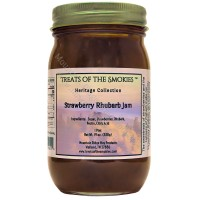 Treats of the Smokies - Strawberry Rhubarb Jam - Pint (19 oz. nt. wt.) Jar