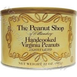 The Peanut Shop Lightly Salted Virginia Peanuts - 32 Oz.- 6 Tins