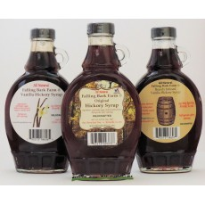 Falling Bark Farm Hickory Syrup 3 Pack - 8 oz Bottles